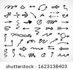 vector set of hand drawn arrows   Shutterstock .eps vector #1623138403