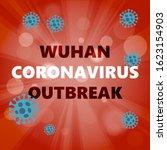 abstract virus strain model... | Shutterstock .eps vector #1623154903