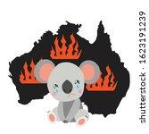 australia black silhoette.... | Shutterstock .eps vector #1623191239