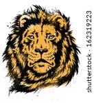 lion head stencil vector | Shutterstock .eps vector #162319223