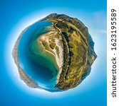 Aerial Tiny Planet Of The Sand...