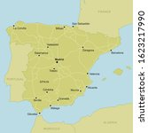 vector map of spain with... | Shutterstock .eps vector #1623217990