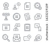 cancellation related line icon...