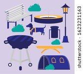 park icon set design  nature... | Shutterstock .eps vector #1623231163