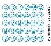 set of smileys in different... | Shutterstock .eps vector #162323519