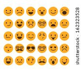 set of different smileys vector | Shutterstock .eps vector #162323528