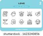 love outline icons pack for ui. ...
