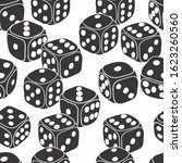 dice doodle seamless pattern.... | Shutterstock .eps vector #1623260560