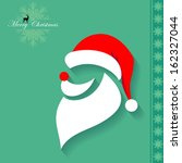 santa claus mask | Shutterstock .eps vector #162327044