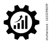 efficiency vector icon.gear...   Shutterstock .eps vector #1623298039