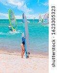 Beautiful Surfer Blond Woman O...