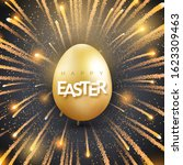 easter background with shining... | Shutterstock .eps vector #1623309463