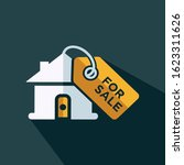 house for sale tag flat icon...