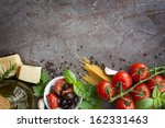 Italian Food Background  With...