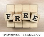 FREE word made with wooden blocks - stock photo