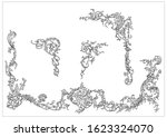 ornament elements in rococo and ... | Shutterstock .eps vector #1623324070