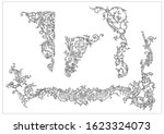 ornament elements in rococo and ... | Shutterstock .eps vector #1623324073