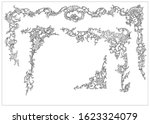 ornament elements in rococo and ... | Shutterstock .eps vector #1623324079