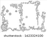 ornament elements in rococo and ... | Shutterstock .eps vector #1623324100