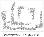 ornament elements in rococo and ... | Shutterstock .eps vector #1623324103