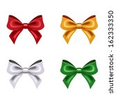 Set Of Four Bows. Vector...
