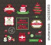 vector set of christmas labels... | Shutterstock .eps vector #162333353
