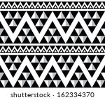 tribal aztec abstract seamless... | Shutterstock .eps vector #162334370