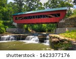 The Helmick Mill Covered Bridge ...