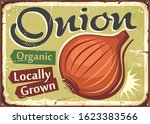 vegetables sign. onion locally...