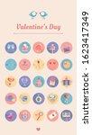 design for valentine's day...   Shutterstock .eps vector #1623417349