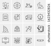 business icon set. 16 universal ... | Shutterstock .eps vector #1623432826