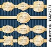 golden frames  labels and... | Shutterstock .eps vector #162343778