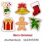 christmas decoration | Shutterstock .eps vector #162345350