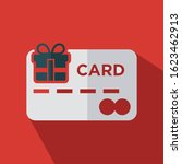 credit card with gift box flat...