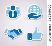 Four Icons Isolated For...
