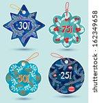 winter season sale tags set | Shutterstock .eps vector #162349658