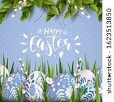 stylish easter background with... | Shutterstock .eps vector #1623513850