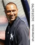 Small photo of BRONX, NY - SEP 15: New York Yankees shortstop Derek Jeter before the game against the Tampa Bay Rays on September 15, 2012 at Yankee Stadium.