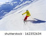 skiing  skier  winter sport  ... | Shutterstock . vector #162352634