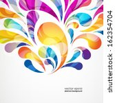 abstract colorful arc drop... | Shutterstock .eps vector #162354704