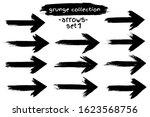 paint brush stroke arrow set.... | Shutterstock .eps vector #1623568756