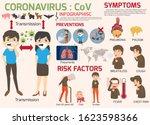 coronavirus   cov infographics... | Shutterstock .eps vector #1623598366