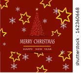 merry christmas vector design | Shutterstock .eps vector #162360668