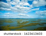 Aerial view of the Ten Thousand Islands in Everglades National Park