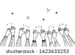 hand drawn of hands clapping... | Shutterstock .eps vector #1623633253