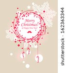 christmas wreath | Shutterstock .eps vector #162363344