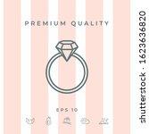 ring with gemstone  diamond  ... | Shutterstock .eps vector #1623636820