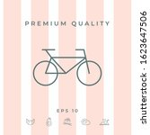 bicycle line icon. graphic... | Shutterstock .eps vector #1623647506