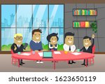 business conference of workers  ...   Shutterstock .eps vector #1623650119