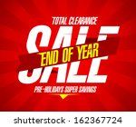 end of year final clearance... | Shutterstock .eps vector #162367724